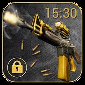 Cool Gun Shooting Lock Screen App icon
