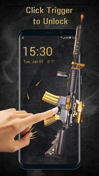 Cool Gun Shooting Lock Screen App screenshot 1