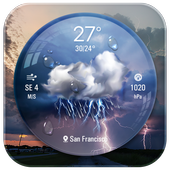 Lockscreen with live weather crystal ball icon