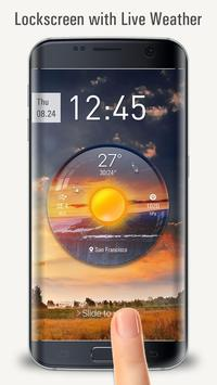 Lockscreen with live weather crystal ball poster