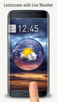 Lockscreen with live weather crystal ball apk screenshot