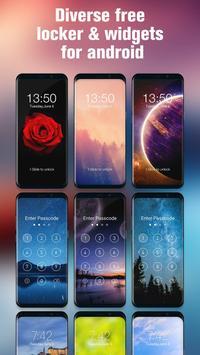 Password for lock screen phone7 control center apk screenshot