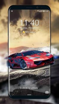 Car Parallax 3D Locker&Live lock screen for Free poster