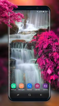 Live Wallpaper Waterfall& Swan apk screenshot