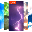 Animated weather live wallpaper& background icon