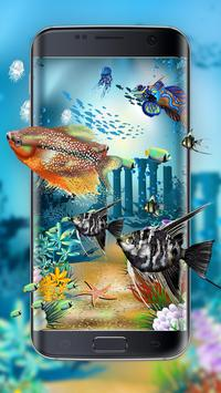 Aquarium style live wallpaper&moving background poster