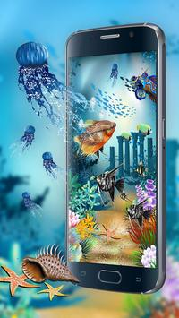 Aquarium style live wallpaper&moving background screenshot 1