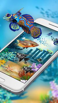 Aquarium style live wallpaper&moving background screenshot 3