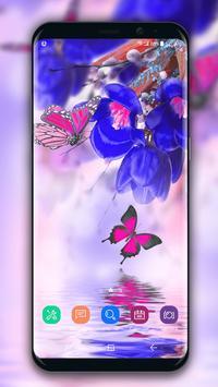 Flower Live Wallpaper Dancing Butterfly screenshot 3