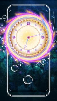 Colorful Clock Live Wallpaper poster