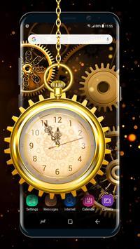 Retro Golden Clock Wallpaper Live 2018 Screenshot 1