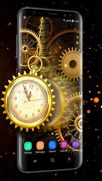 Retro Golden Clock Wallpaper Live 2018 Screenshot 2