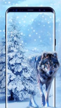 Ice Wolf Live Wallpaper screenshot 2