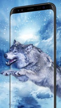 Ice Wolf Live Wallpaper apk screenshot