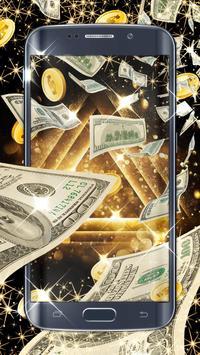 Money live wallpaper poster