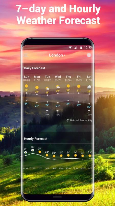 how to put weather app on home screen
