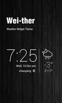 Minimal Style Weather Widget poster