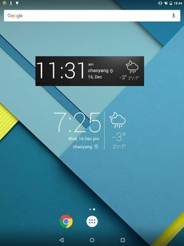 Minimal Style Weather Widget apk screenshot