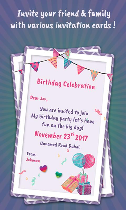 Invitation Card Maker Poster