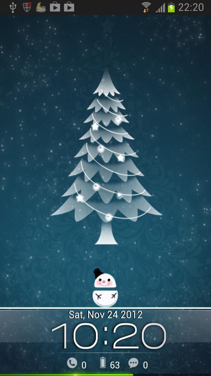 Snowman(GetJar) Locker theme for Android - APK Download