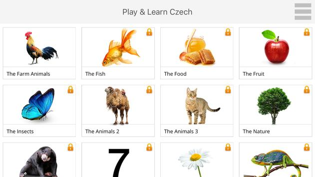 Play and Learn CZECH free apk screenshot