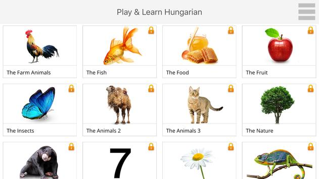 Play and Learn HUNGARIAN free apk screenshot