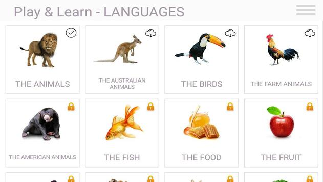 Play & Learn Languages Free apk screenshot