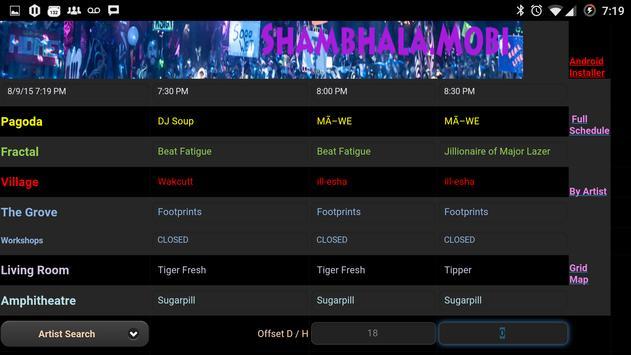 Shambhala 2015 Mobile Schedule apk screenshot