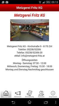 Metzgerei Fritz poster
