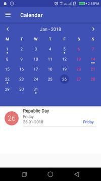 India Holidays Calendar 2018 apk screenshot