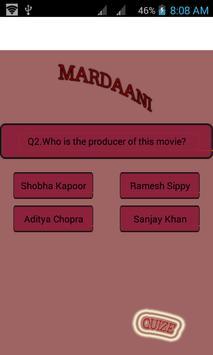 Mardani --Movie quize poster