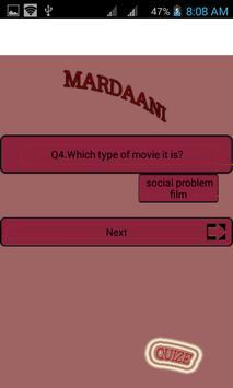 Mardani --Movie quize apk screenshot