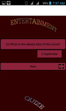 Entertainmen  -- Movie quize apk screenshot