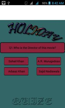 Holida---- movie quize poster