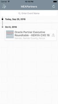 MEA Partner Events apk screenshot