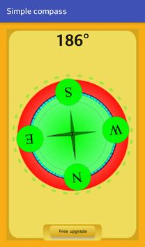 Simple compass poster