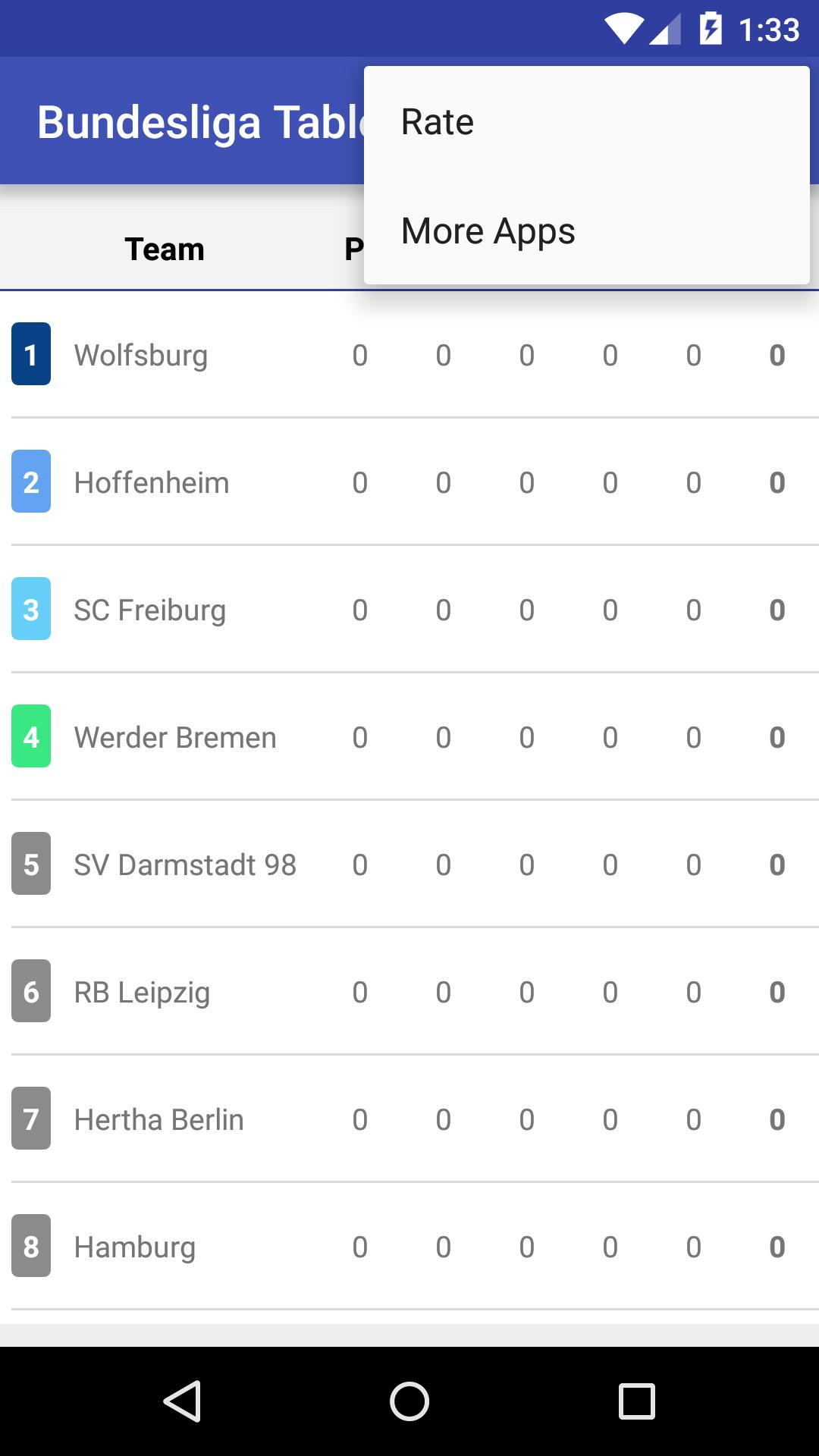 Bundesliga Table 2016 2017 For Android Apk Download