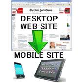 Mobile site generator icon