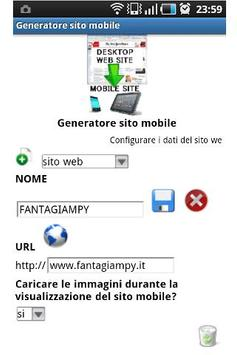 Mobile site generator poster