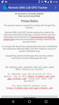 Remote SMS, Call, GPS Tracker Ekran Görüntüsü 1