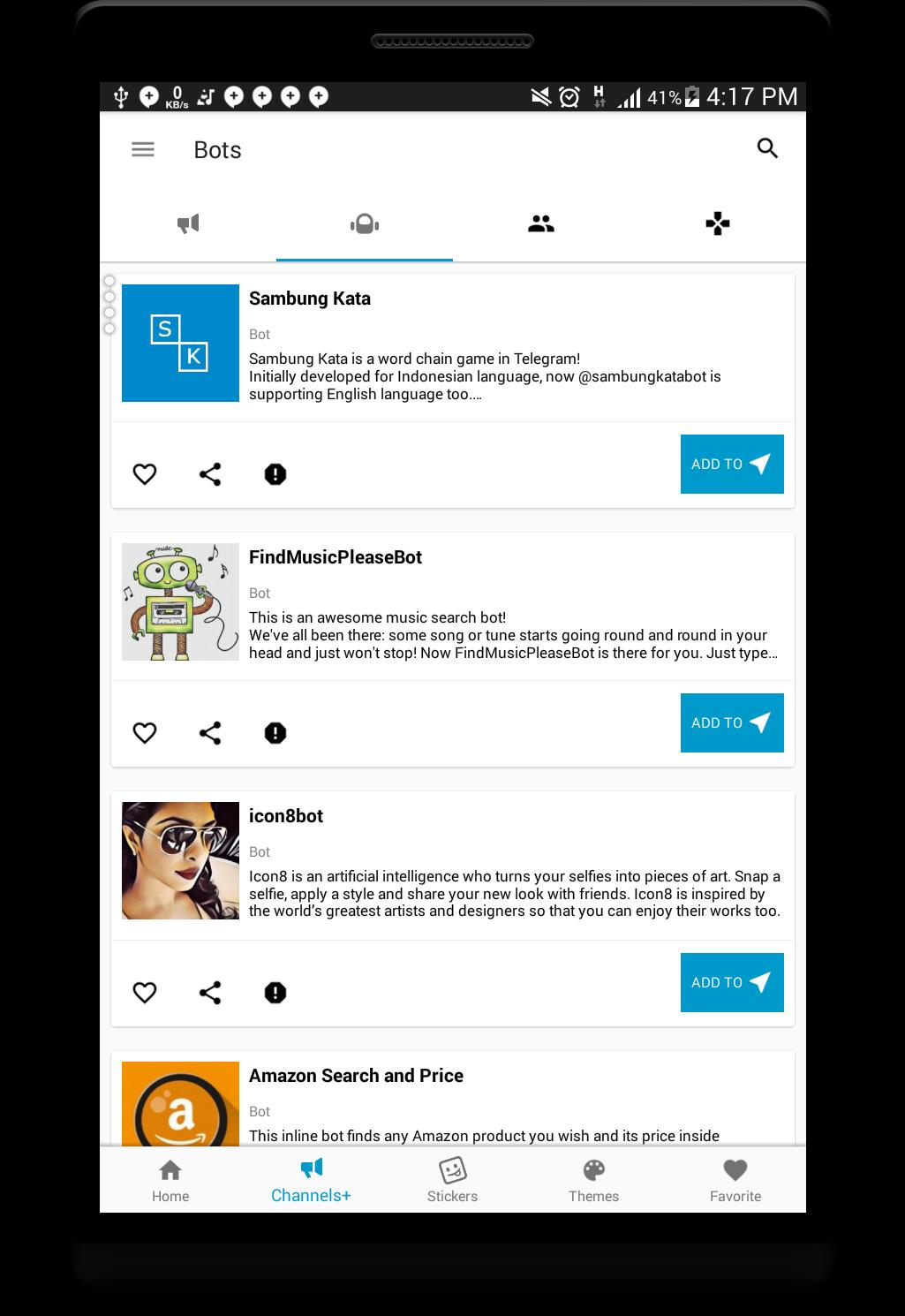 Telegram Goodies - Stickers Channels + and Themes for