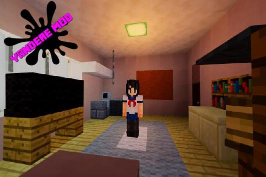 Yandere Mod for minecraft poster