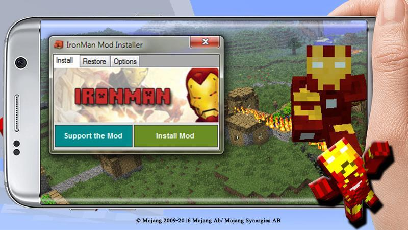 minecraft iron man mod