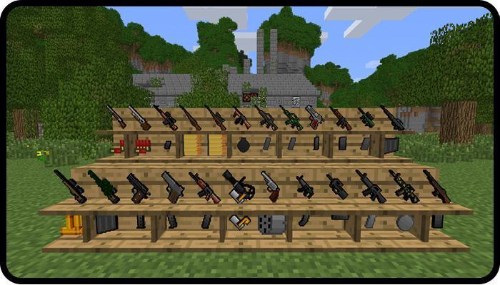 guns mod minecraft