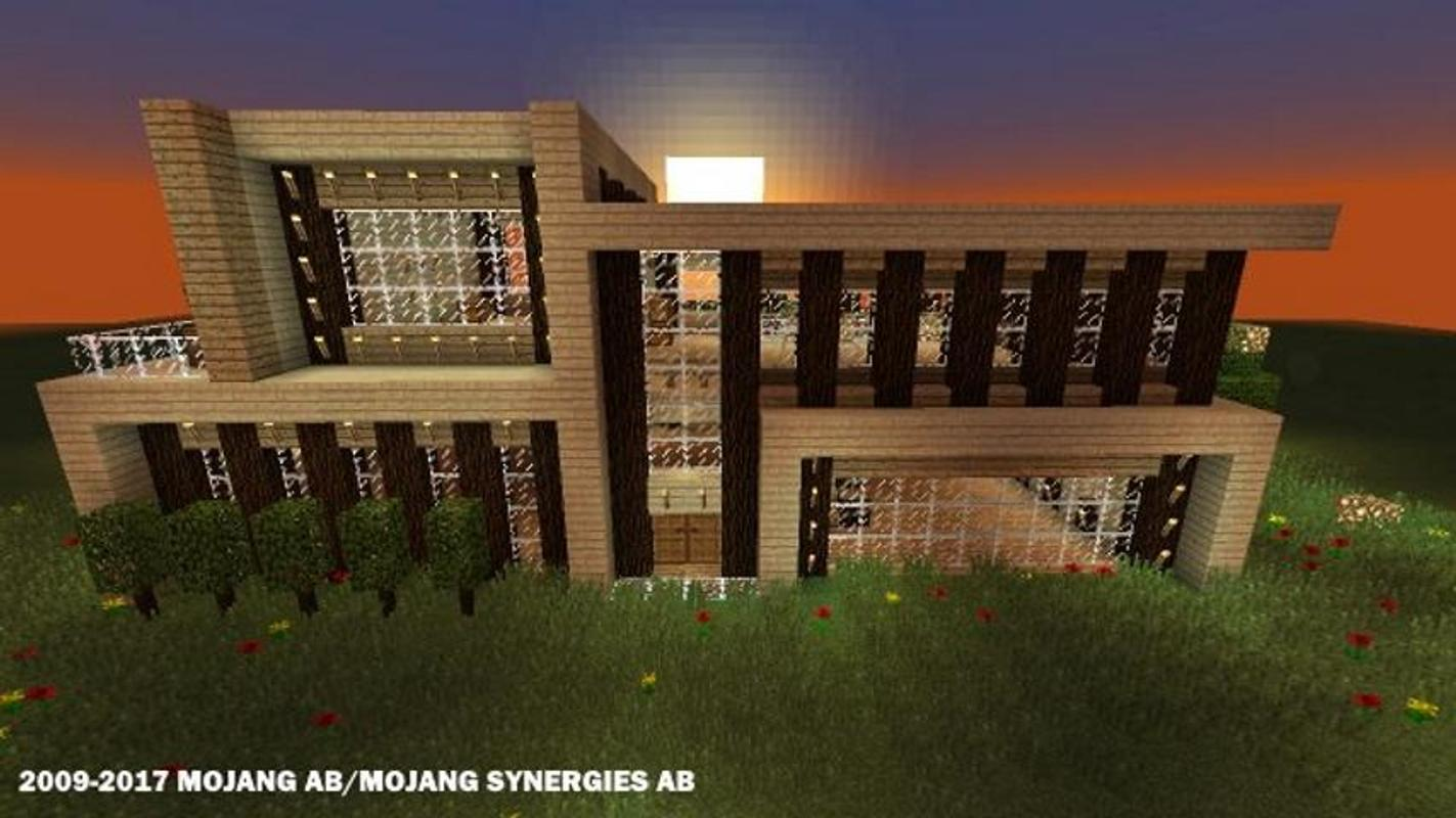 Modern houses for minecraft for android apk download for Minecraft modern house download 1 8