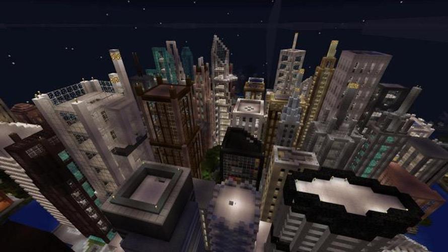 большой город для майнкрафт 0.14.0 #1
