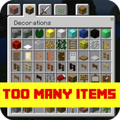 Too Many Items Mod PE Zeichen