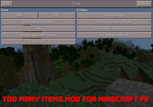 Too Many Items Mod PE Screenshot 1