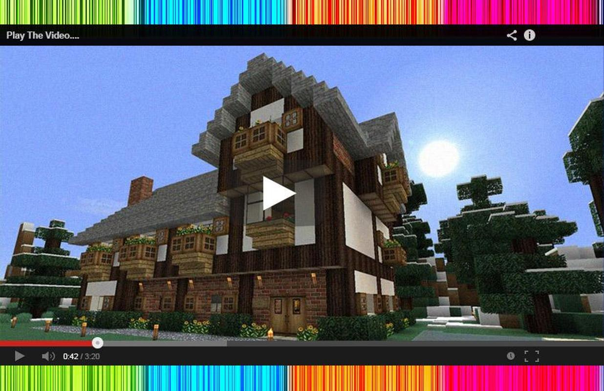 how to build an epic house in minecraft pe