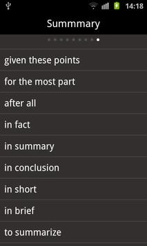 English transitional words apk screenshot